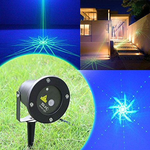 SUNY Outdoor Laser Green Light Blue LED 8 Patterns Lighting