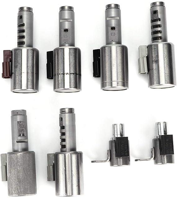 C4 PICASSO C5 C6 C8 Akozon Kit d/électrovanne de changement de vitesse de transmission AF40-TF80 8pcs Kit de corps de soupape de bo/îte de vitesses en alliage daluminium Convient pour C4