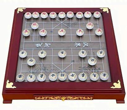 GZ Estrategia Juegos de Mesa de ajedrez Chino Xiangqi con la Tabla, Jade Piezas for 2 Jugadores de Juegos, Agradable for el Regalo o colección (Color : B) : Amazon.es: Juguetes y juegos