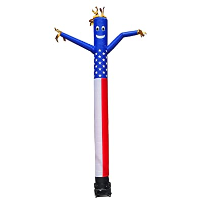 Hi Suyi 20ft Advertising Inflatable Tube Men Blow Up Giant Waving Arm Fly Puppet Christmas Halloween Decorative Signs for Business Store Party (No Blower): Sports & Outdoors