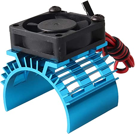 PERIWIN Disipador de Calor para Motor, Motor eléctrico de Metal, Ventilador de refrigeración de 5 V para Partes RC 1/10 Coche 540 550 – Morado: Amazon.es: Hogar