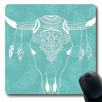 Amazon com : Ahawoso Mousepads for Computers Bone Chic Cow
