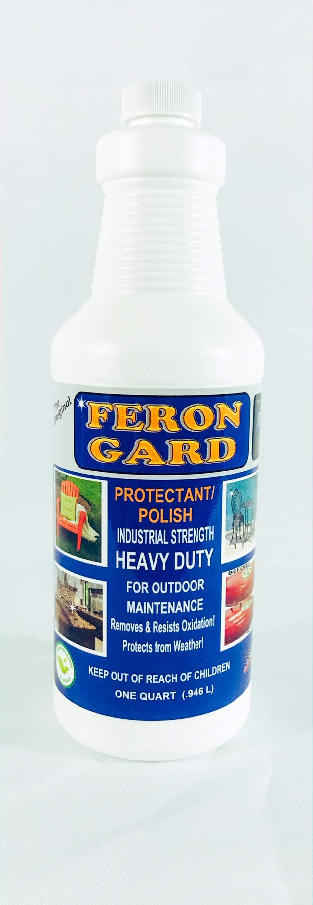 The Original Feron Gard for Outdoor Patio Furniture Maintenance Enhancer and Protectant Against Weather Polish Protectant Heavy Duty Industrial Strength and Surfaces