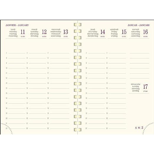 Exacompta 137648E Eurotime 13S - Agenda semanal (13 x 9 cm ...