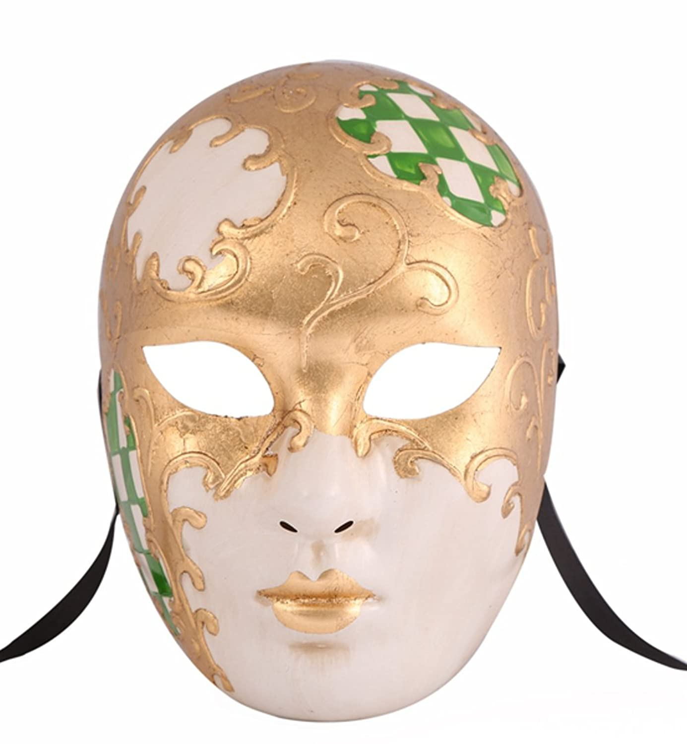Amazon.com: Luxury Mask Full Face Venetian Party Masquerade Mask ...