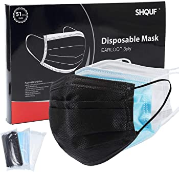 51-Pack SHQUF Disposable Face Mask