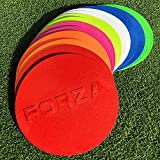 "FORZA Flat Disc Markers (10qty) [7"" Diameter] – Highest Quality Available (Any Color!) [Net World Sports]"