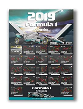 Formula 2 Calendario 2019.Formula 1 Calendar 2019 Formula One Circuit Wall A2 Poster