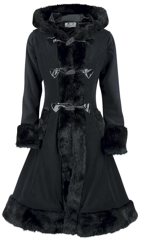 Poizen Industries Minx Coat Girl-Mantel schwarz