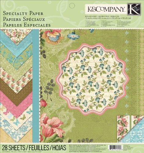 K&Company 12-Inch by 12-Inch Paper Pad, Merryweather - Company K & 12 Inch Paper
