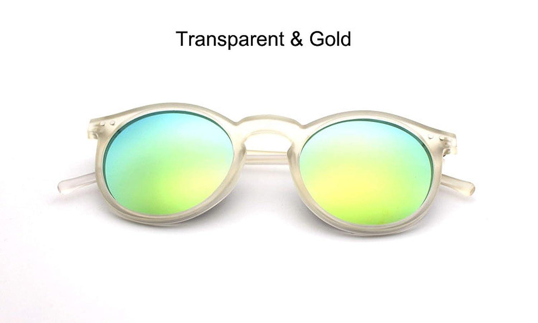 d4931c964150 Amazon.com: 2019 Multicolour New Mercury Mirror Glasses Men Sunglasses Women  Male Female Coating Sunglass Gold Round OCUL 9 Colors Optional,Gold:  Clothing