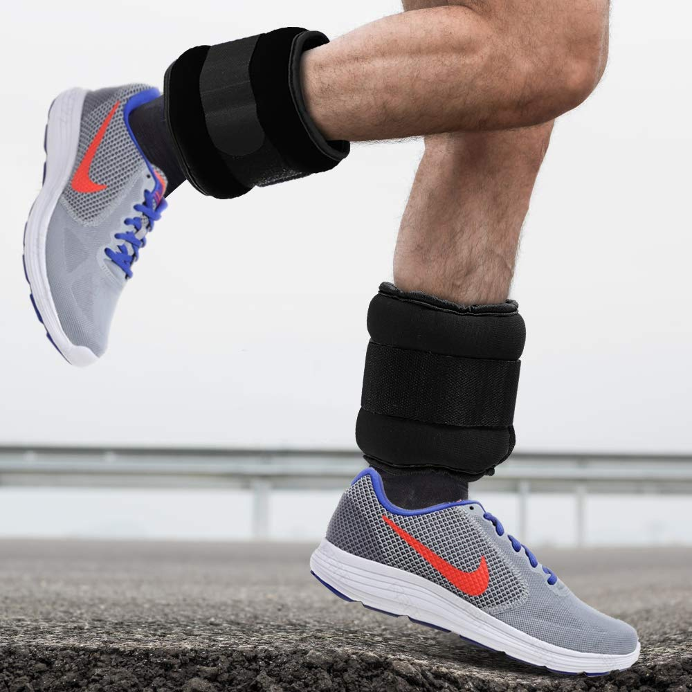 Ankle//Wrist Ankle Weights With Adjustable Strap-1 Pair 4bs-Blue