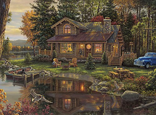 (Buffalo Games - Kim Norlien - Peace Like A River - 1000 Piece Jigsaw Puzzle)