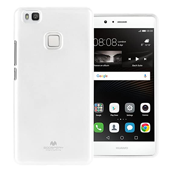 Mercury Marlang Marlang Huawei P9 Lite Case - White/Free Screen Protector [Slim Fit] TPU Case [Flexible] Pearl Jelly [Protection] Bumper Cover for ...
