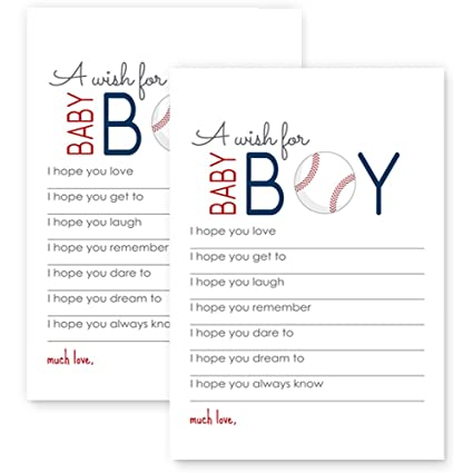 amazon com baseball wishes for baby boy shower game set of 20