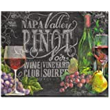 CounterArt Chalkboard Wine Glass Cutting Board, 15 x 12 Inches