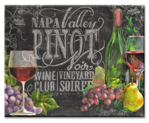 CounterArt Chalkboard Wine Glass Cutting Board, 15 x 12 Inches