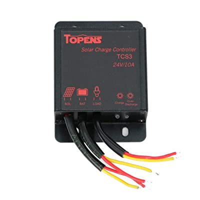 TOPENS TCS3 Solar Charge Controller for Solar Panels: Home Improvement