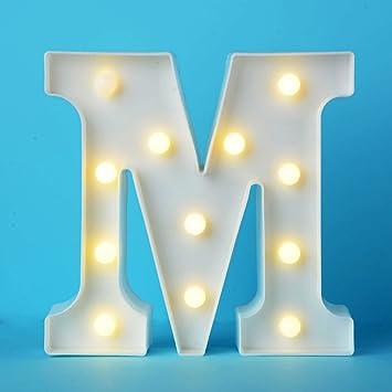 Letras Led Letras Luminosas Decorativas Letras Alphabet Light Luces De Espejo Del Alfabeto Az Con Luces De Led Para Decoración De Diy Wedding Party