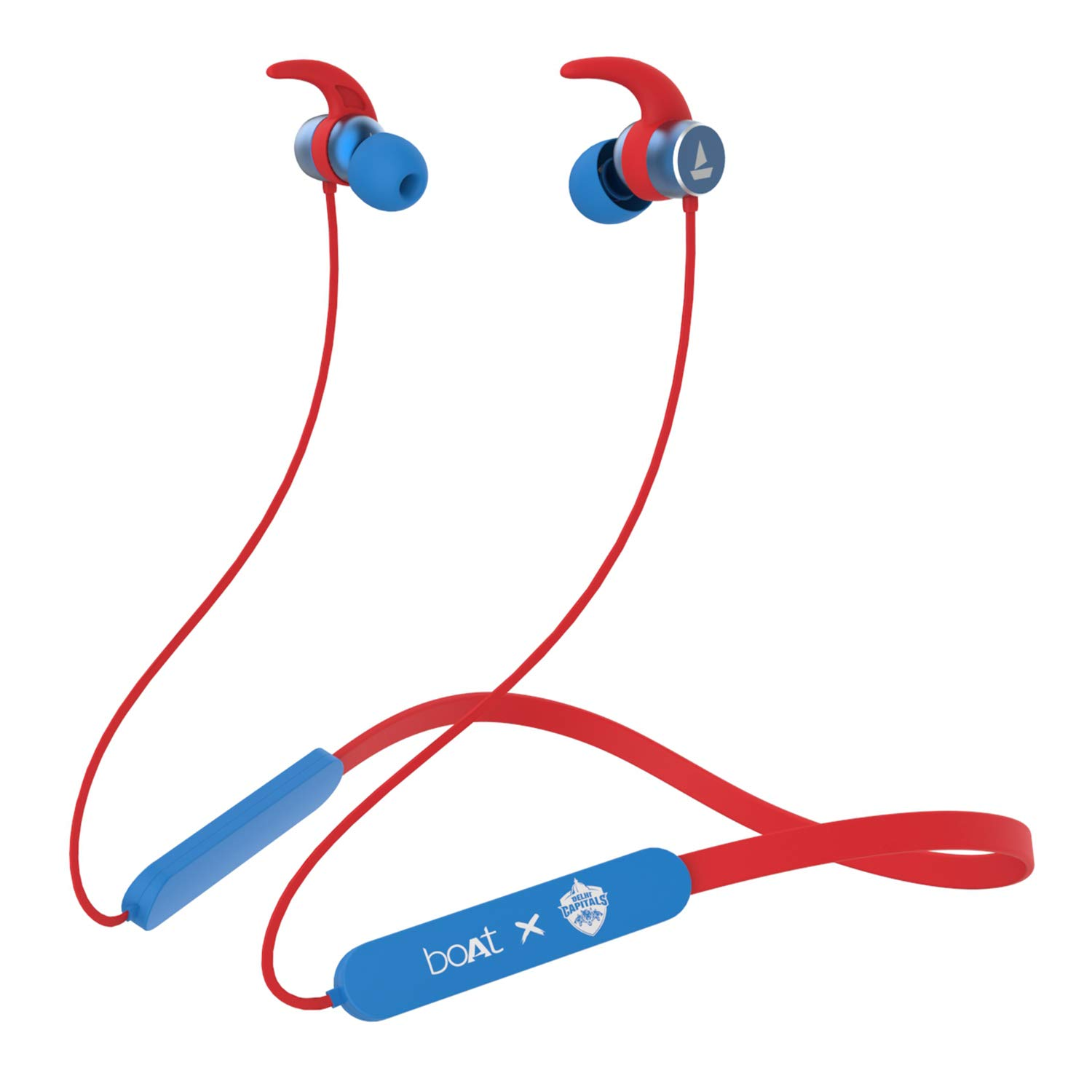 boAt Rockerz 255 Delhi Capitals Edition Wireless Headset with Super Extra Bass, IPX5 Water and Sweat Resistant, Qualcomm Chipset and Upto 6H Playback(DC Blue)