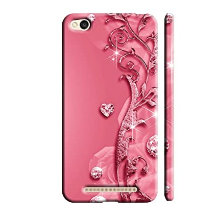 official photos 3893b 2f5d3 Clapcart Redmi 4A Designer Printed Back Cover for Xiaomi Redmi 4A - Pink  Color (Heart Design Print For Girls)