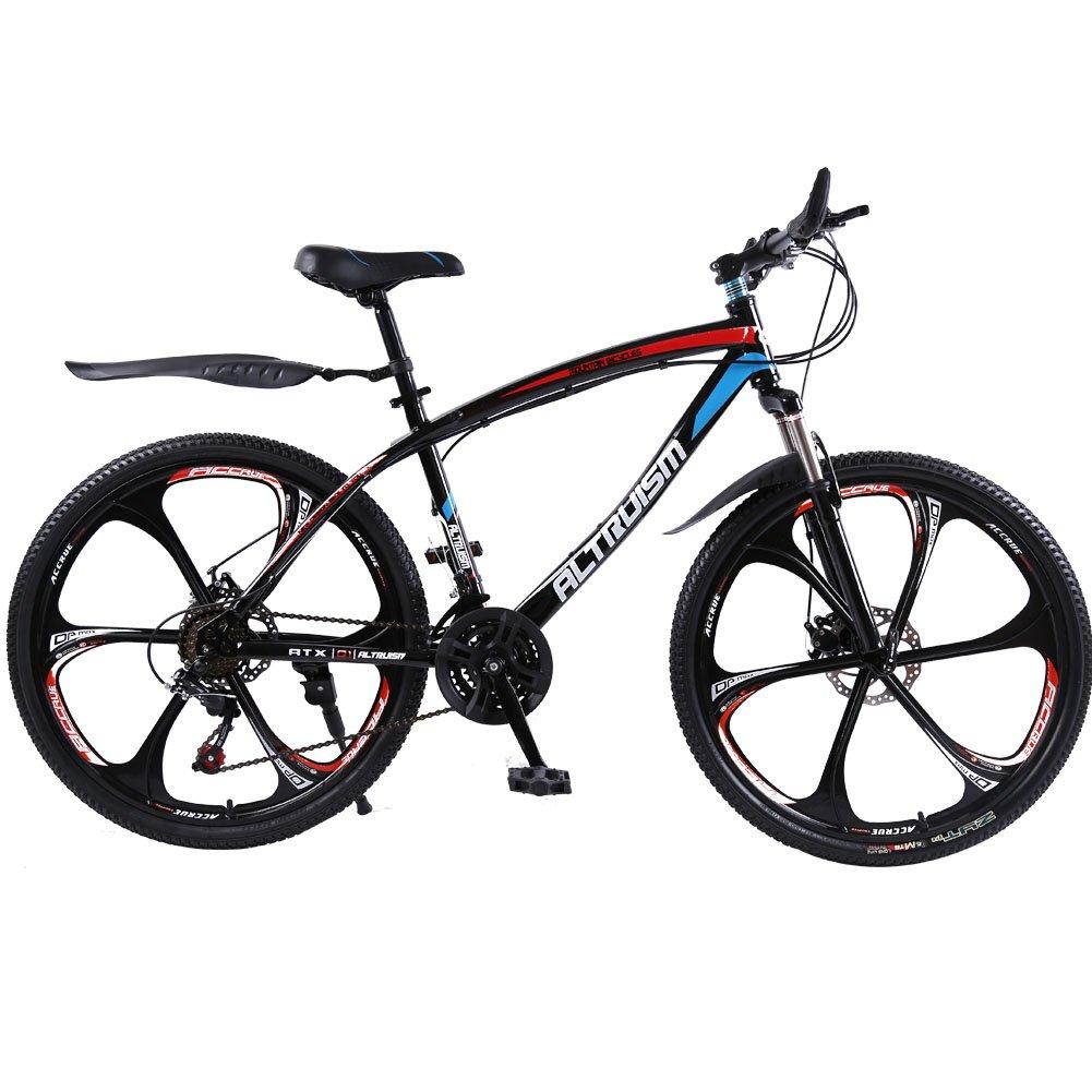 AltruismQ1 マウンテンバイク 26インチ ロードバイク アルミニウム合金 シマノ21段変速 24段変速 軽量 B019TYTFBW 鋼鉄製 21 26