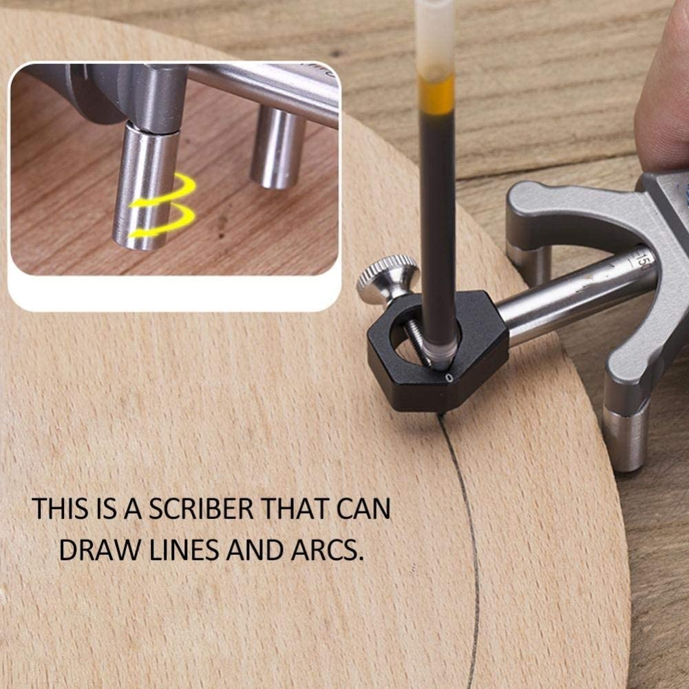 Festnight Woodworking Linear Arc Dual-Purpose Scriber Parallel Line Drawing Tool Multifunctional DIY Wood Working Scribe Tools
