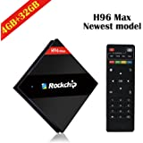 [ 4G RAM + 32G ROM ] 2017 Upgraded Version H96 Max TV BOX RK3399 Six Core UHD 4K Smart Android 6.0 Marshmallow Set Top Box with WiFi ,Bluetooth and OTA Function Supported 1000M LAN