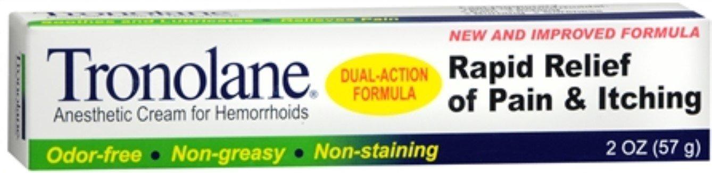 Tronolane Anesthetic Cream for Hemorrhoids 2 oz (Pack of 12)