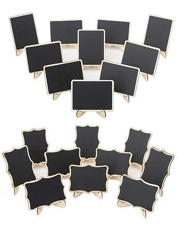 Amazon.com: YiTai - Lote de 20 mini pizarras de madera con ...
