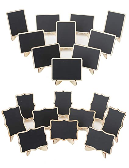 10 X Mini Blackboard Chalkboard Office Home Message Labels Holder Clip Great CY