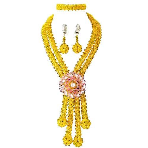 Juego de collar de boda tradicional africana con cristales ...