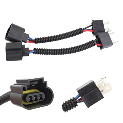 amazon com tomall h4 9003 hb2 male to h13 9008 female 12cm(5inch  amazon com tomall h4 9003 hb2 male to h13 9008 female 12cm(5inch) retrofit wiring harness for led headlight conversion kit connector socket adapter