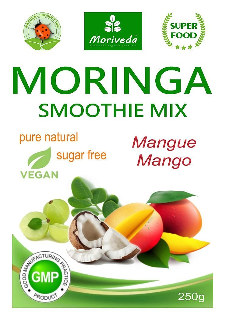 ... batido de vitaminas, batido de proteínas, reemplazo de comidas - diferentes sabores - 100% natural y vegano, sin azúcar* (250 g sabor a mango): ...