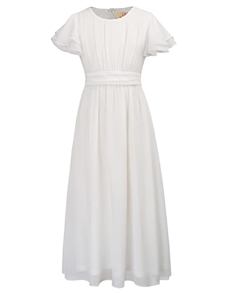 GRACE KARIN Niñas Vestido Largo de Verano Chifón para Fiesta 6~7 Años CL0703-