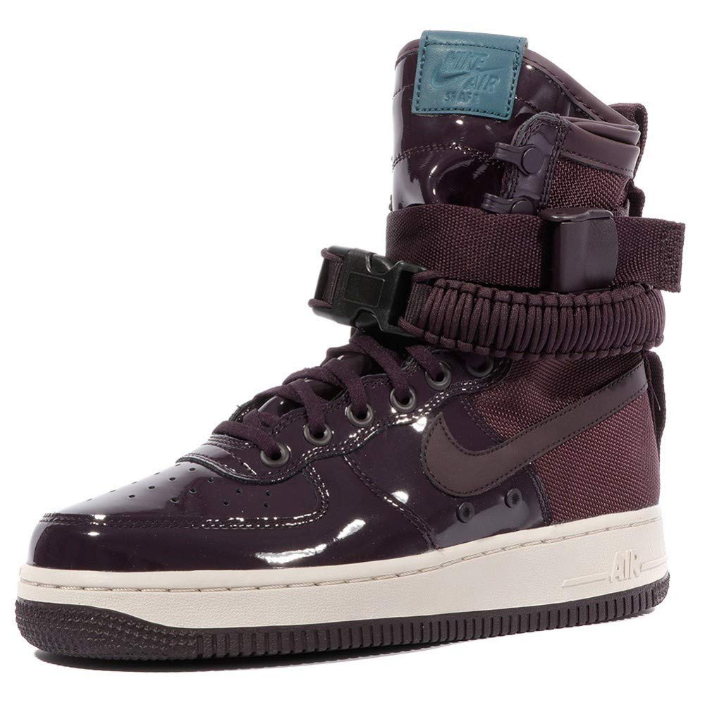 Nike SF AF1 SE PRM Women's Boots (9.5, Port Wine/Space Blue) on