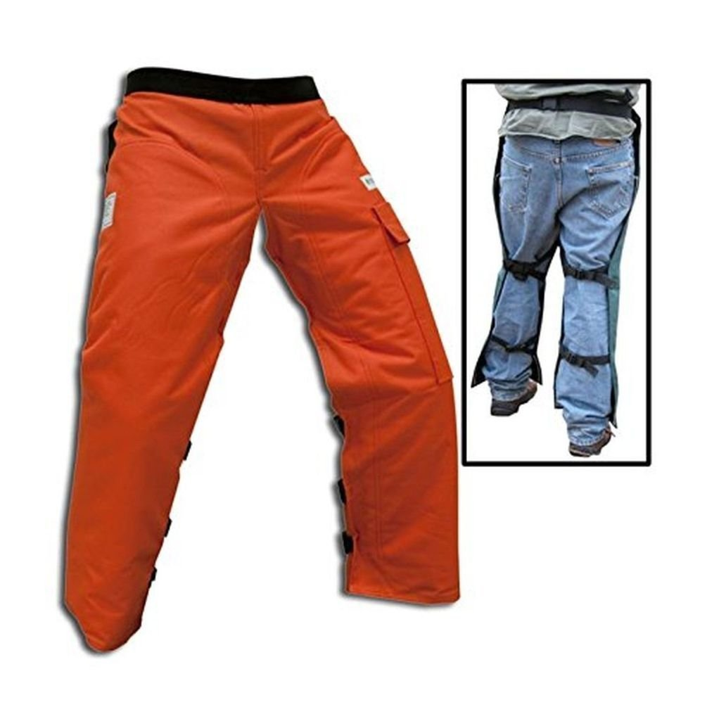 Forester Chainsaw Safety Chaps with Pocket, Apron Style (Short 35'', Orange)