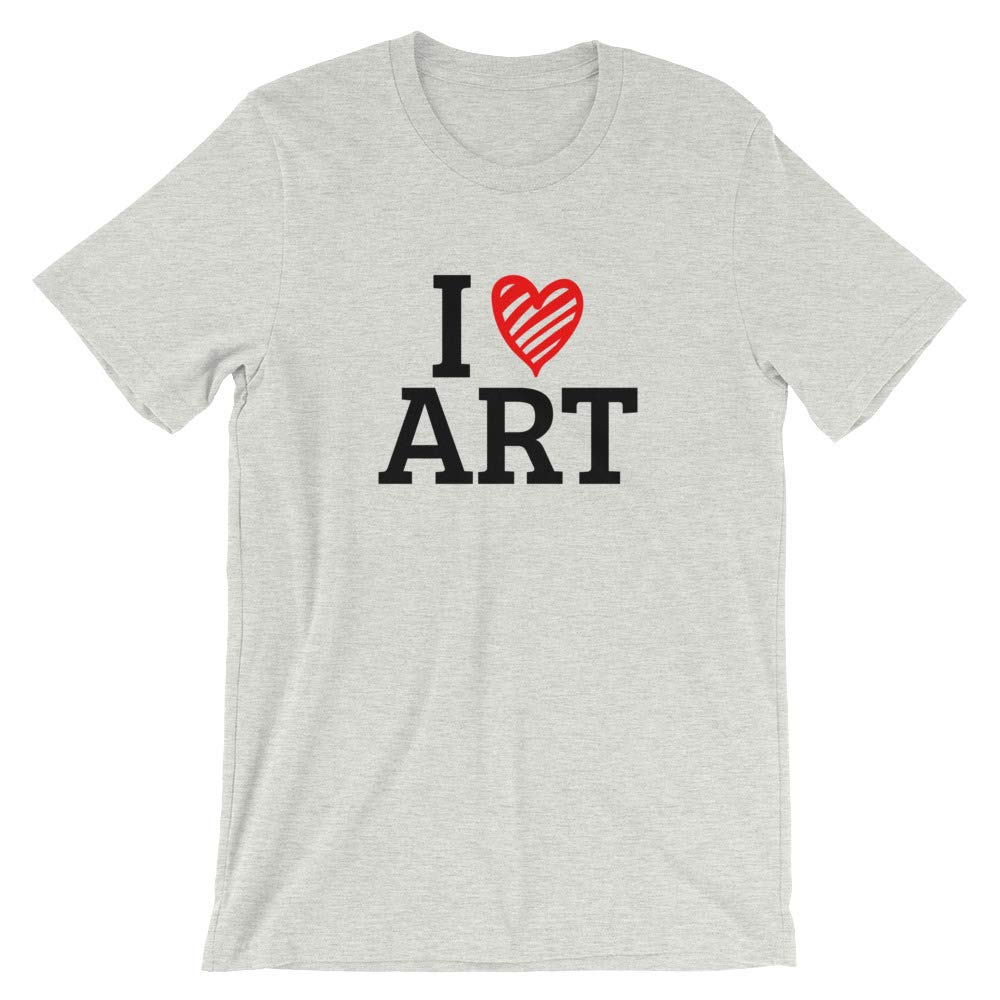 Gift for Art Lovers I Heart Art Unique Short-Sleeve Unisex T-Shirt