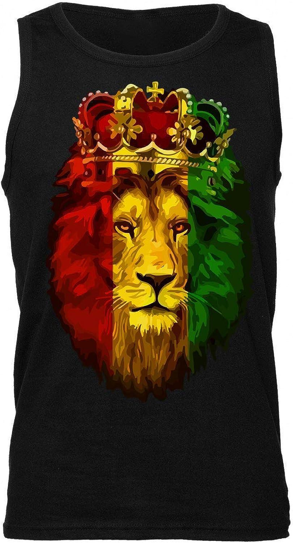 Finest Prints Lion Rasta Colors Flag Ethiopia Zion Herren Tank Top
