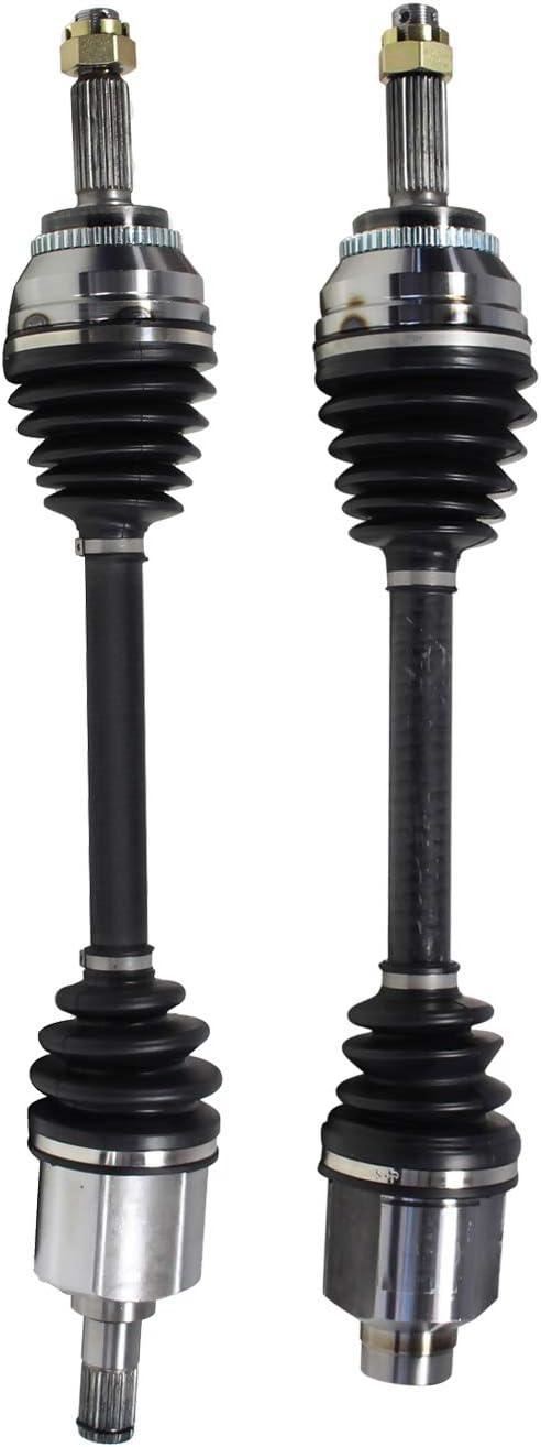 NCV37558 x 1;NCV37559 x 1 CV Joint Axle Assembly Front Pair Set of 2 Premium CV Axles for Hyundai Tiburon Auto Trans 5 Speed 2.7L V6 Replacement No