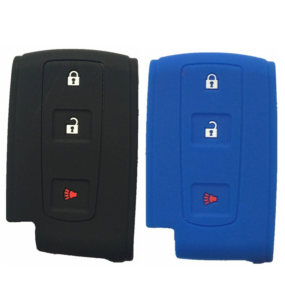Ezzy Auto 3 Buttons Keyless Remote Key Shell with Key Blade Key Shell Replacement fit for 2004-2009 TOYOTA Prius No Chip