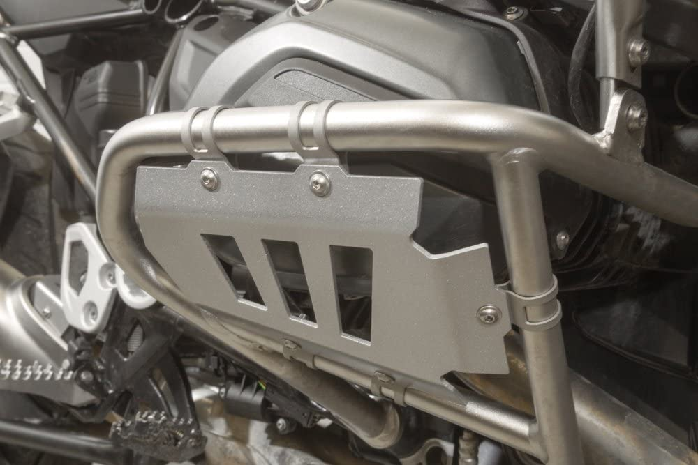 Matte black Ro-Moto Radiator guard compatible for BMW R1200GS 2013 2014 2015 2016 GSW LC Water cooled