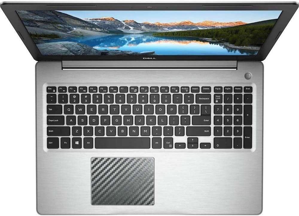 BingoBuy 5-Pack Touchpad Trackpad Decal Sticker Skin Cover Protector for Dell Inspiron 15-5000 Series (15-5570,15-5575, Black Carbon Fiber)
