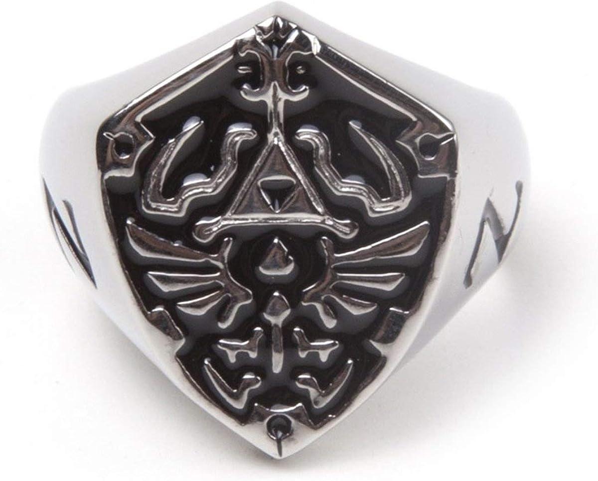 The Legend of Zelda Ring Hyrule Signet Metal Shield Silver
