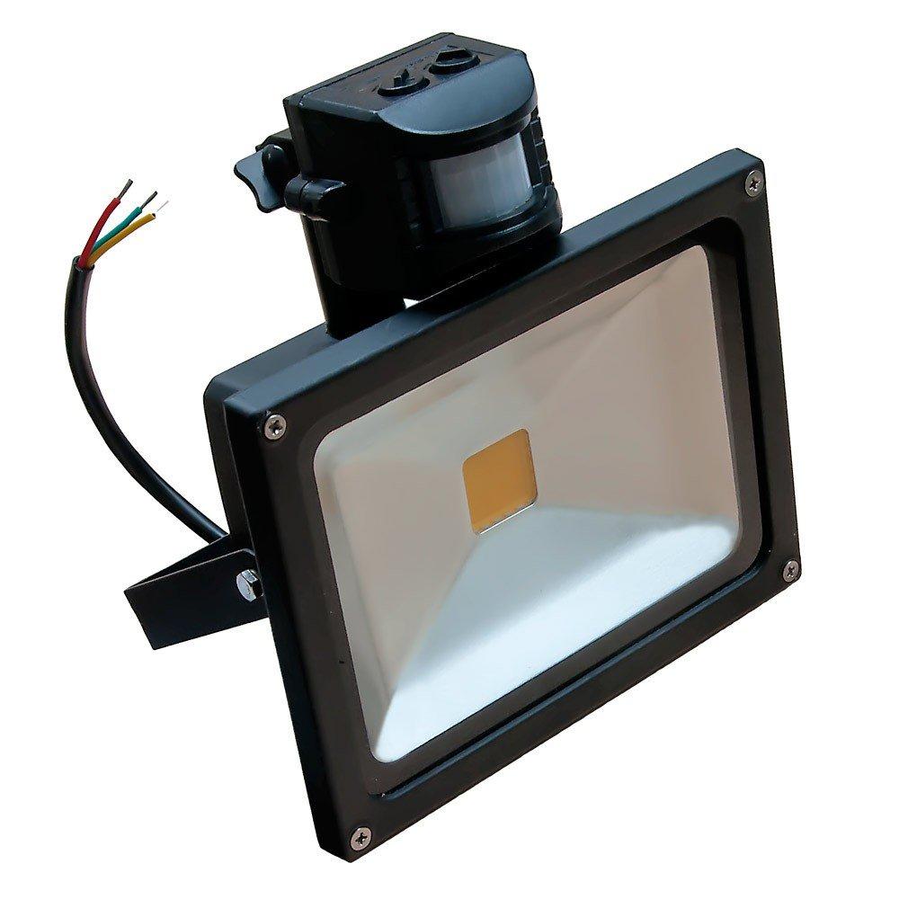 LEDVero Reflector LED con sensor de movimiento y cable de red eléctrica (20 W): Amazon.es: Iluminación