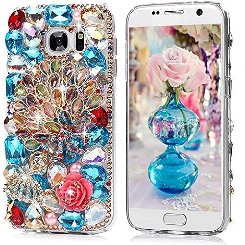 S7 Case,Samsung Galaxy S7 Case - Mavis's Diary Luxury 3D Handmade Bling Crystal Diamonds Colorful Diamond Bow Sales