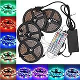 LightInTheBox KWB LED Strip Set 20M(45M) Waterproof 1200LEDs 2835 RGB Strip Light 44Key Controller 8A Power Supply AC100-240V