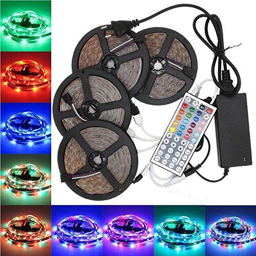 (LightInTheBox KWB LED Strip Set 20M(45M) Waterproof 1200LEDs 2835 RGB Strip Light 44Key Controller 8A Power Supply AC100-240V)