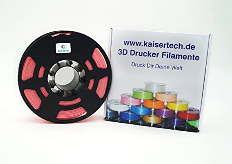 Kaisertech Filament für 3D Drucker 1kg PLA/ABS 1.75mm/3mm - Premium ...