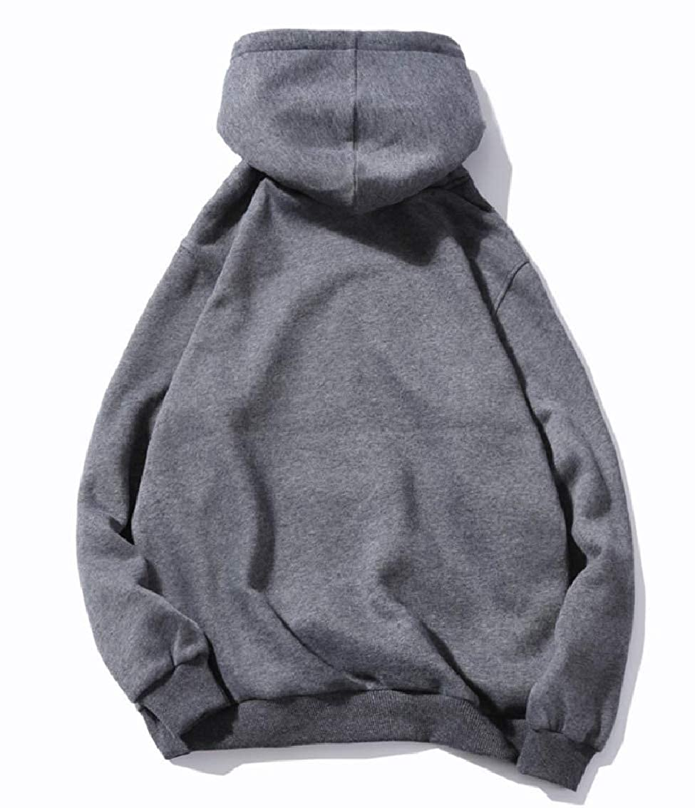 Fseason-Men Fleece Pocket Hoodie Casual Big and Tall Tops Outwear